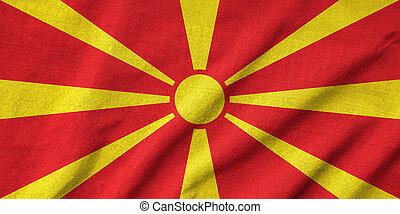 Ruffled Macedonia Flag