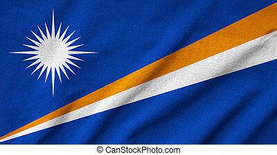 Ruffled Marshall Islands Flag