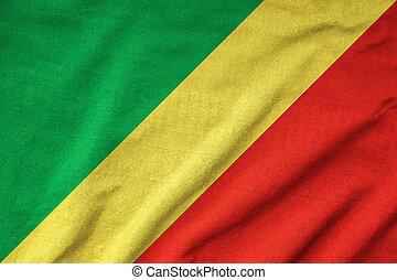 Ruffled Republic of the Congo Flag