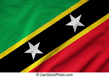 Ruffled Saint Kitts and Nevis Flag