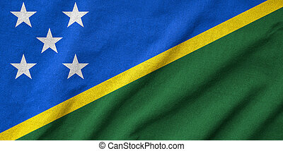 Ruffled Solomon Islands Flag