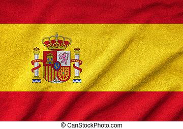 Ruffled Spain Flag