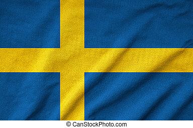 Ruffled Sweden Flag