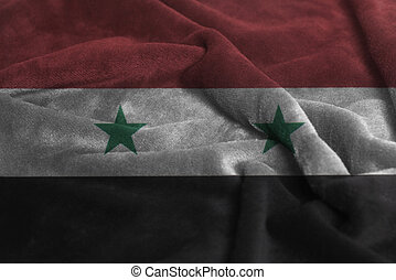 Ruffled Waving Flag of Syria