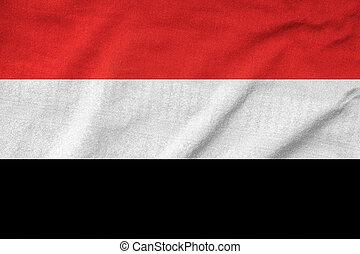 Ruffled Yemen Flag