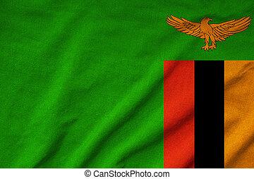 Ruffled Zambia Flag