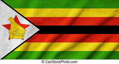 Ruffled Zimbabwe Flag