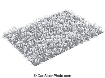 rug. gray carpet isolated on white background