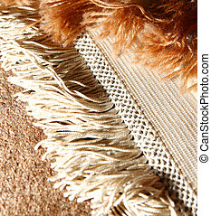 Rug - Macro shot of oriental rug. Handmade. Iranian