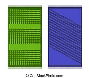 Rug on a white background. Cartoon. Vector