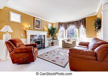 rug., wohnzimmer, modern, dekorativ, möbel, nett