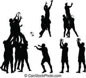 rugby, 3, vektor, -, sammlung