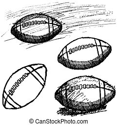 Rugby American Football sketch set