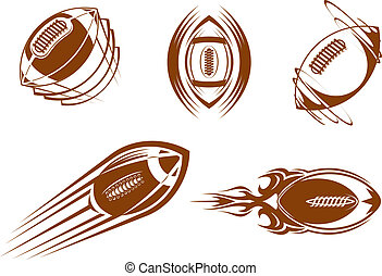 Rugby and football mascots - Rugby and american football...