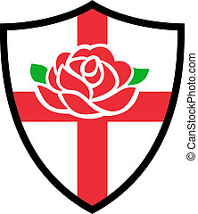 rugby, angleterre, bouclier,  rose