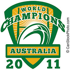Rugby ball Australia World Champions 2011