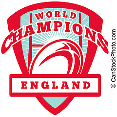 Rugby ball England World Champions