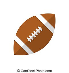 Rugby ball. Icon on isolated background