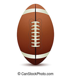 Rugby Ball - illustration of rugby ball on isolated white...