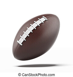 Rugby Ball  isolated on a white background. 3d render
