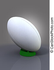 Rugby Ball On A Kicking Tee