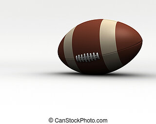 Rugby ball - rendered in 3d