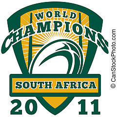 Rugby ball South Africa World Champions 2011