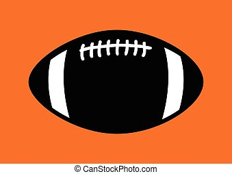 Rugby Ball - Simple graphic of a rugby ball