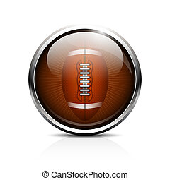 Rugby ball vector icon