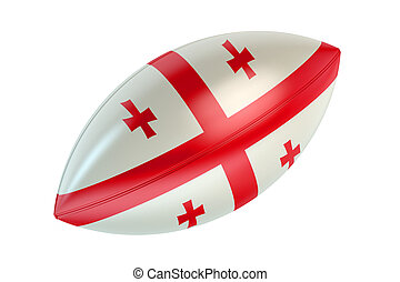 Rugby Ball with flag of Georgia