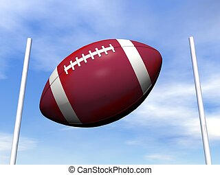 rugby, balle,  -,  render,  3D