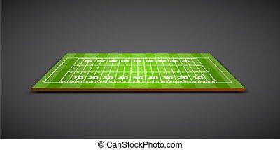 rugby, clair, champ, vert, football, ou