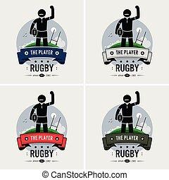 Rugby club logo design.