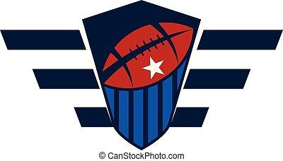 rugby, emblème, gabarit
