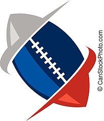 rugby, emblème, gabarit, logo