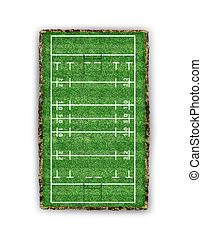 rugby field. view from above. 3d illustration