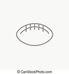 Rugby football ball line icon.