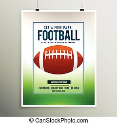 rugby football game flyer template