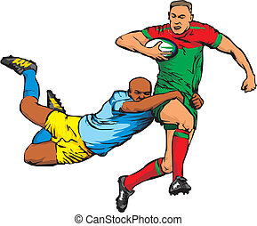 rugby - full contact team sport, rugby union
