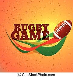 rugby, jeu, sports, fond