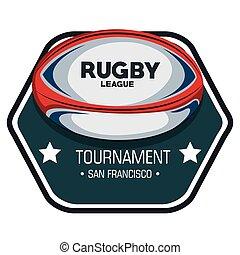 rugby league tournament label design vector illustration eps...