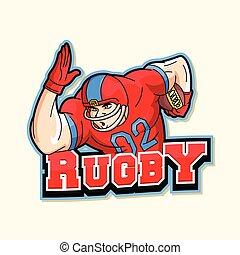 rugby logo illustration design