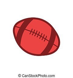 rugby or american football ball sport