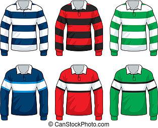 rugby, overhemden