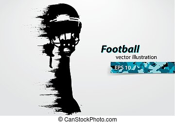 rugby., player., シルエット, ベクトル, footballer., アメリカン・フットボール, イラスト