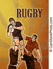 rugby player catching ball in lineout