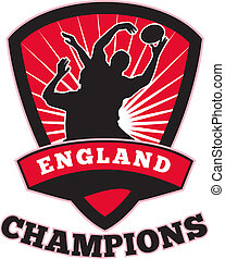 Rugby Player England Champions - illustration of a rugby...
