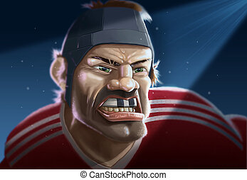 Rugby Player in Spotlight