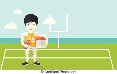 Rugby player on stadium.