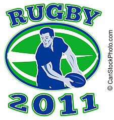 rugby player passing ball 2011